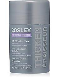 Bosley Professional Strength Hair Thickening Fibers, Gray, 0.42 oz