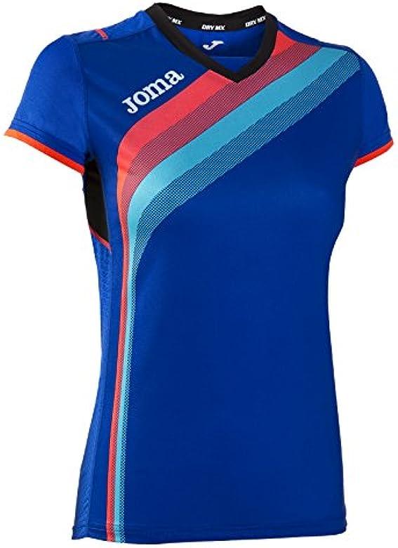 Joma - Camiseta Elite v Royal m/c para Mujer: Amazon.es: Ropa y ...
