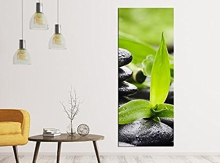 Lienzo imágenes 1tlg 40 x 100 cm Wellness piedra Yoga Bambú ...