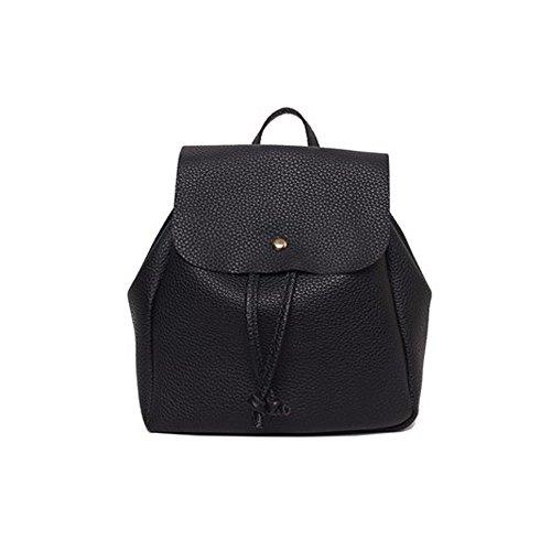 Frauen Freizeit Student Schultasche, Drawstring Satchel Schulter Rucksack, Soft Bags