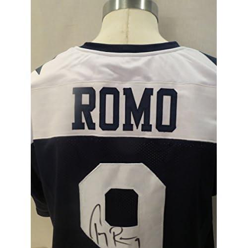 more photos 6fecb e3795 Tony Romo Thanksgiving Signed Dallas Cowboys Throwback ...