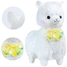 "KSB 20"" Giant Huge White Bow Tie Plush Alpaca,Japanese Alpacasso Soft Plush,100% Plush Stuffed Animals Doll Toys,Best Birthday Gifts For The Children Kids"