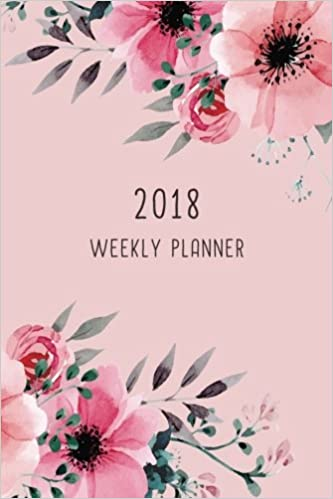 2018 weekly planner 12 month weekly planner notebook diary journal calendar 1 page a week with extra dots and blank pages for journaling