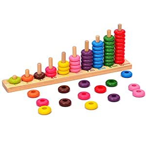 Amazon.com: Wooden Educational Counting Toys - Math Abacus ...