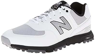 New Balance Men's NBG574B Spikeless Golf Shoe, White/Grey, 8 D US