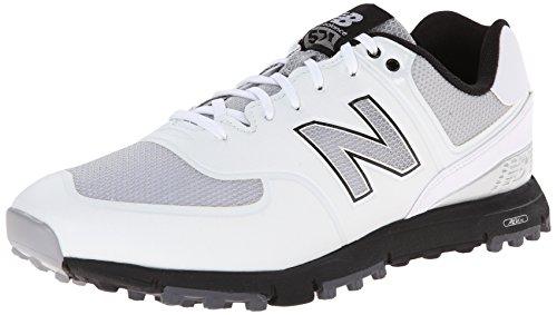 New Balance Men's NBG574B Spikeless Golf Shoe, White/Grey, 10.5 2E US