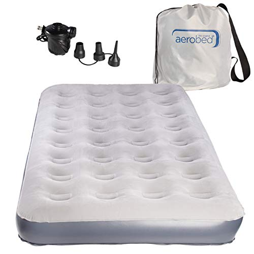 AeroBed Twin Air Mattress With Bag and Air Mattress Pump: Inflatable Mattress Twin, Blow Up Mattress With Air Bed Pump (Sport Aerobed)