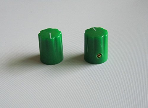 Guitar Scalloped Edge Davies 1900h Style AMP Knob Effect Pedal Knobs, Green 10 Pcs -