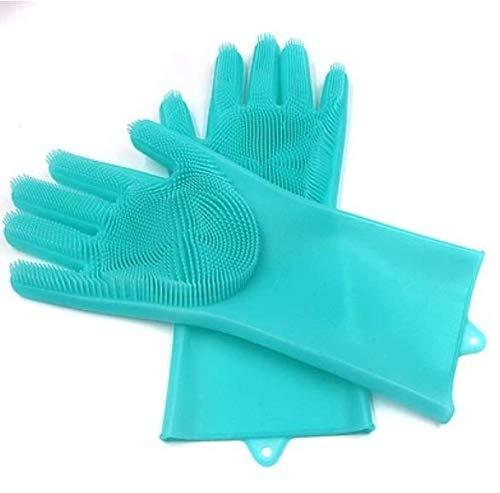 DiaoZhaTian Guantes de Silicona para Lavar Platos Reutilizables ...