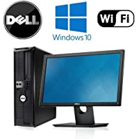 Dell 760 Desktop - Intel Core 2 Duo 3.33GHz, 8GB DDR2, New 120GB SSD, Windows 10 Pro 64-Bit, WiFi, Dual Video + New 19 Dell LCD Monitor (Prepared by ReCircuit)
