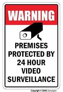 Amazon.com: Cartel de vigilancia de vídeo propiedad ...