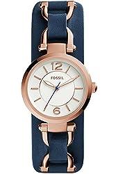 Fossil ES3857 Georgia Artisan Navy Leather Watch