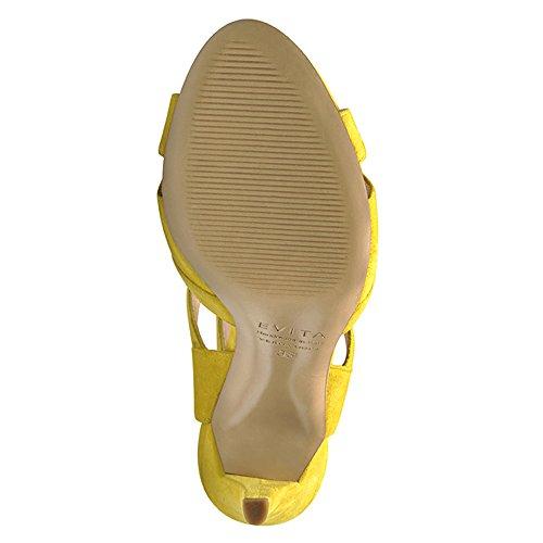 Shoes Emma Evita Gelb Rauleder Damen Sandalette vpfwBq