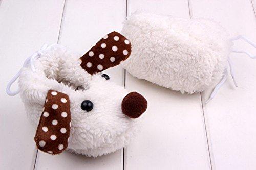 Smile YKK (0-6 Monate) Baby Cartoon Hund krippeschuhe krabbelschuhe Lauflernschuhe Pink Weiss