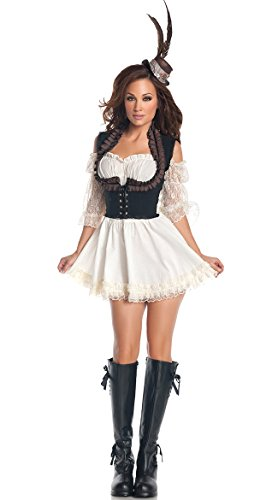 Mystery House Costumes Plus-Size Steampunk Lady, Brown/Ivory, 2X