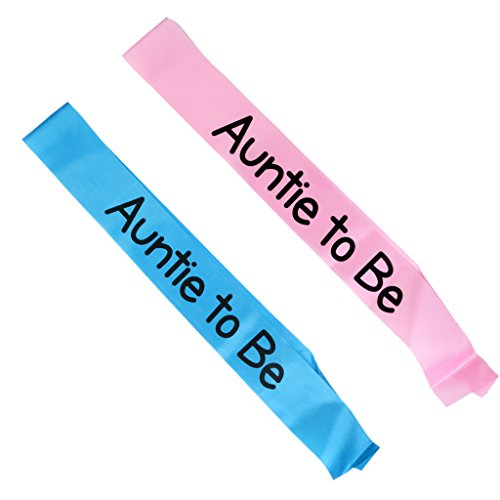 MagiDeal Auntie to be Writing Baby Shower Party Sash Pink by MagiDeal (Image #6)