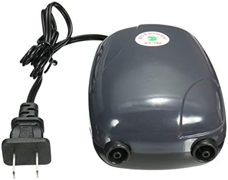 Queenwind 2 エアバブルディスク石エアレーター池ポンプ水耕酸素水槽魚タンク