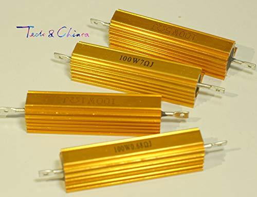 Maslin 2Pcs 5R 5ohm 5 20R 20ohm 20 R Ohm 100W Watt Aluminum Wirewound Power Metal Shell Case Resistor Resistance RX24 - (Value of Resistance: 20R)