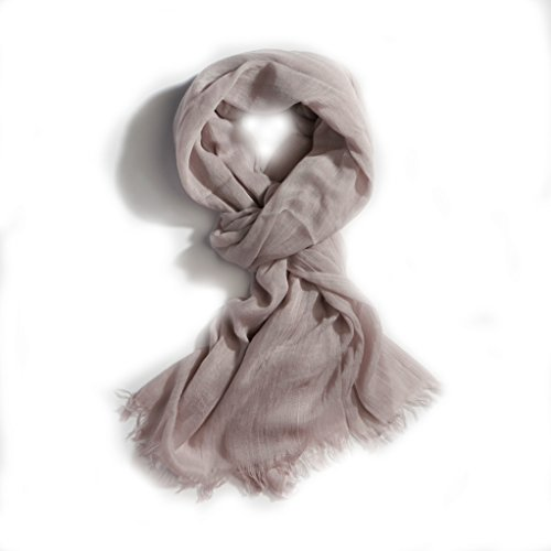 Women's All Season Solid Color Light Weight Oblong Large Scarf (Lightweight Scarf)