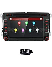 HD 7 Inch Double Din Car Stereo GPS DVD Navi for VW Golf Polo Passat Tiguan Jetta EOS+US & Canada Map+Camera Capacitive Screen