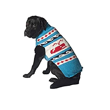 Buy Chilly Dog Whales Sweater for Dogs, 3X,Large Online at