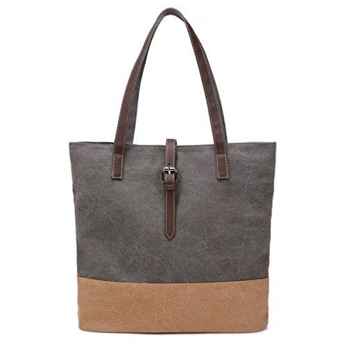 Frauen Jahrgang Leinwand Schulter Ipad Messenger Handtasche Einkaufen Geschäft Tasche Grün,D-OneSize