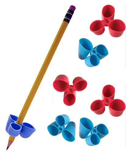 The Pencil Grip Writing CLAW for Pencils and Utensils, Medium Size, 6 Count Blue/Red (TPG-21206) (Pencil Sampler)