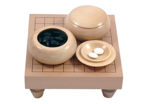 Go-Spiel: 9x9-Tisch-Set, hell