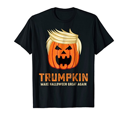 Mens Halloween Trumpkin Funny Make Halloween Great Again T-shirt