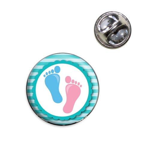 Baby Footprints Feet Lapel Hat Tie Pin Tack ()