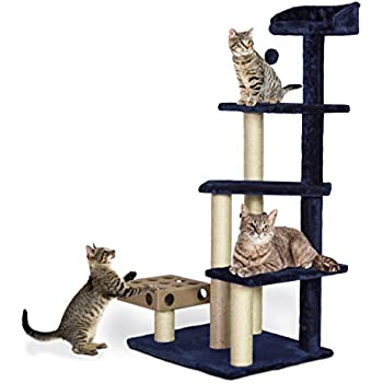 Furhaven Tiger Tough Cat Tree House Furniture For Cats And Kittens, Play  Stairs Cat Furniture