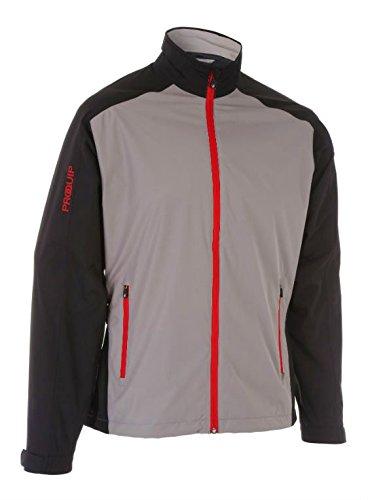2016 PROQUIP Aquastorm PX1 Waterproof Lightweight Full Zip Mens Golf Jacket Black/Grey XXL by ProQuip