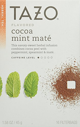Cocoa Mint Mate Herbal Tea 16 Bags (Case of 6)