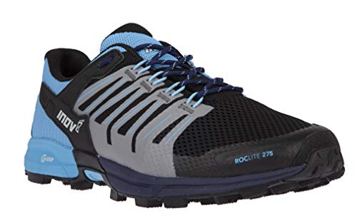 Inov-8 Womens Roclite G 275 - Lightweight Trail Running OCR Shoes - Graphene Grip - for Obstacle, Spartan Races and Mud Running - Navy/Blue M8/ W9.5