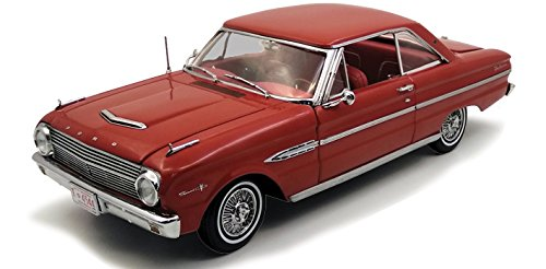 Falcon Ford Model (1963 Ford Falcon Hard Top Rangoon Red 1/18 Diecast Model Car by Sunstar 4544)
