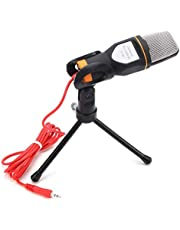3.5mm (2 pole) jack Wired Condenser Microphone With Tripod For Home Computer -Not for Mobile