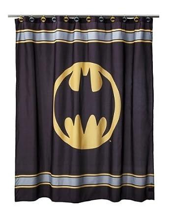 Curtains Ideas comic shower curtain : Amazon.com: DC Comics ~ Batman Fabric Shower Curtain 70