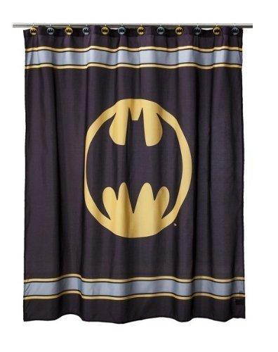 DC Comics ~ Batman Fabric Shower Curtain 180cm X 180cm DC / Warner Brothers
