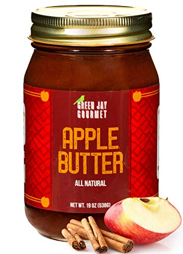 Green Jay Gourmet Apple Butter - All-Natural, Gluten-Free Fruit Spread - Apple Spread with Apples, Cinnamon & Spices - Gourmet Fruit Butter - No Corn Syrup, Preservatives or Trans-Fats - 19 Ounces