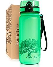 Bodhi Tree Waterfles - Drinkfles - Lekvrij, Licht - met Filter en Polsriem - BPA Vrij - Sportfles voor Fitness, Sport, School - Makkelijk Schoon te Maken - Geurloos - 1L of 650ml