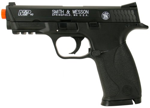 Soft Air Smith & Wesson M&P40 CO2 Gas Powered Airsoft Pistol (Black) Black Gas Pistol