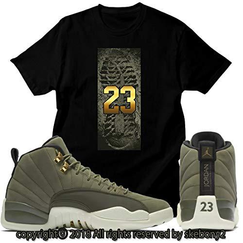 6e6fb17ec6049d Custom T Shirt Matching Air Jordan 12 CP3 Olive Canvas Class 2003 JD  12-6-6-BLACK-2XL