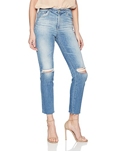 AG Adriano Goldschmied Women's The Isabelle High Rise Straight Jean, Years Saltwater, 28