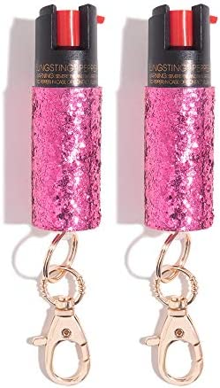 Pepper Spray Keychain for Women Fashionable Powerful, our 10 OC, No Gel Sprays Long Range and is Specifically Designed for Women, Safe, Accessible, Easy to Use, No Accidents, and Refillable