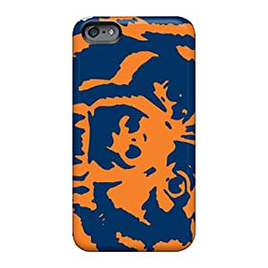 Scratch Resistant Cell-phone Hard Covers For Apple Iphone 6 With Support Your Personal Customized Vivid Chicago Bears Pattern MarieFrancePitre