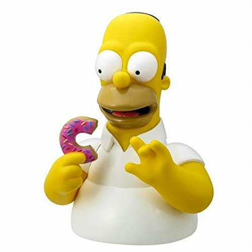 Simpsons / Homer Simpson with donuts bust bank (Simpsons Bank)