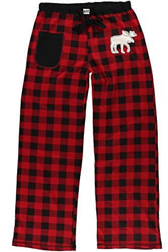 Moose Plaid Women's Fitted Womens Pajama Pants BOTTOM by LazyOne | Pajama BOTTOM for Women -