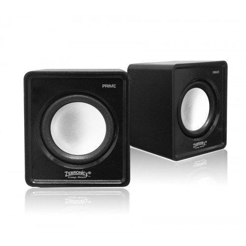 Zebronics Prime 2 2.0 Channel Multimedia Speakers (Black