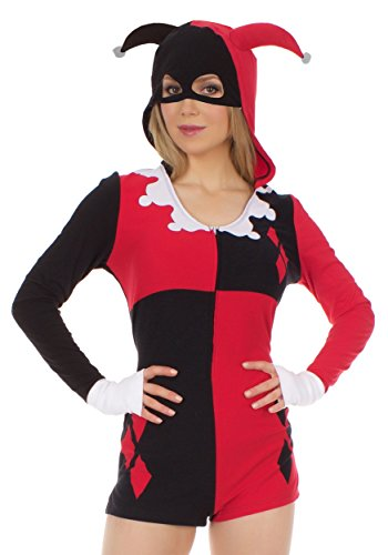 Underboss Women's Harley Quinn Romper Costume Small Red]()