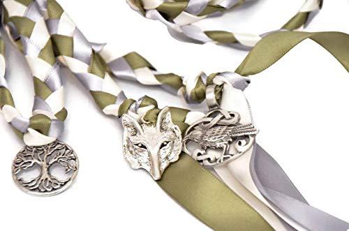 Divinity Braid Odin's Raven Wolf Wedding Handfasting Cord #Handfasting #Celtic #CelticHandfasting #Wedding #WeddingHandfasting